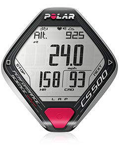 Polar CS500 introduces the two-way rocker switch for easier navigation and effortless control even at high speeds. The rider can quickly and safely operate their cycling computer by gently touching the left or right side of the handlebar unit.